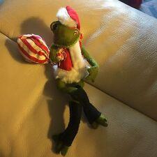 """Vtg Annalee Doll - 7"""" 1969 Christmas Frog"""