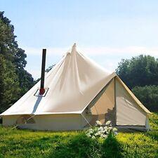 UNISTRENGH 3M 4M 5M 6M Canvas Bell Tent Waterproof Camping Tent Yurt Stove Jack
