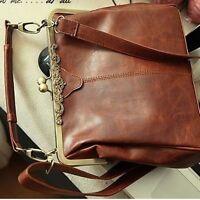 Women Brown Handbag Shoulder Bags Tote Purse PU Leather Messenger Hobo Bag New S