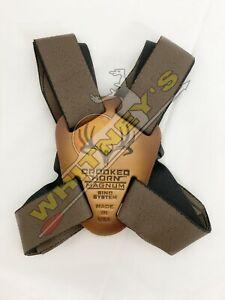 "Crooked Horn Bino / Binocular Strap System 1.25"" Brown Magnum - BS-127"