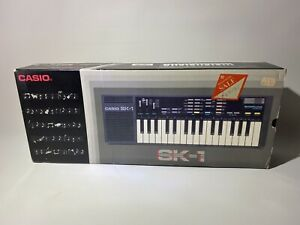 Vintage Casio SK-1 Sampling Keyboard Synthesizer Boxed Tested Works