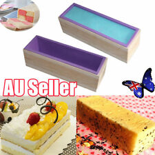 Wood Loaf Soap Mould with Silicone Mold Cake Making Wooden Box 1.2kg soap ON