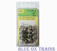 """NWSL 27140-4 HO Athearn 3/32"""" Half-Axle 42"""" Wheelsets (Replaced 37140-4)"""
