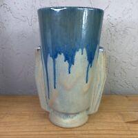 Art Deco Fulper Vase 1920-30 Drip Glaze No. 863 Impression Flared Cylinder Vase
