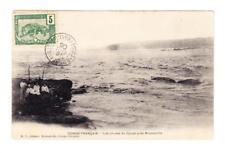 French Congo Sc#38-BRAZZAVILLE 16/DEC/06-postcard view LES CHUTES DU DJOUE PRES
