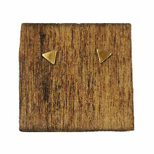 Gold Triangle Studs Simple Tiny Mini Post Earrings New Orleans Handmade Jewelry