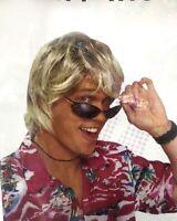 Mens' Wig Brown  Bogan 80s Hippies Party Costume Men Short Wig Costume