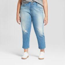 Universal Thread Light Wash Boyfriend Jeans, 18W