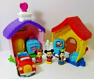 Fisher Price Little People Mickey Mouse Minnie house car
