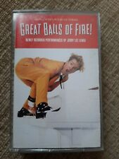 GREAT BALLS OF FIRE SOUNDTRACK CASSETTE TAPE - JERRY LEE LEWIS