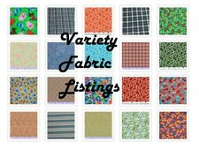 100% Cotton Closeout Fabric, Variety of Quality Choices Quilting, Crafting BTY