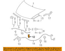 HONDA OEM 07-11 Civic Hood-Support Prop Rod Clamp Clip Holder 90672SNB003