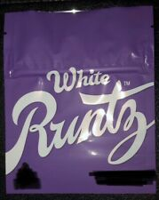WHITE RUNTZ Mylar Resealable 3.5g Packaging ONLY 32 Bags NEW 2020 Runtz Cookie