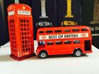London Red Bus & Phone Box Die cast Metal British England UK Souvenir Gift