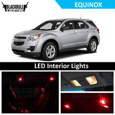 Red LED Interior Lights Accessories Package Kit fits 2010-2017 Chevy Equinox