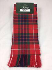 Fraser Red 100% Pure Wool Ladies Tartan Sash Made in Scotland Brand New
