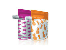 Cherub Baby Reusable Baby Food Pouches – Pink & Orange Special Edition 10 pack