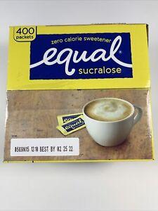 EQUAL Sucralose Yellow Zero 0 Calorie Sweetener, Sugar Substitute, 400 Packets