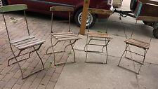 4 alte antike biergarten stühle klappstuhl biergarten stuhl garten metall