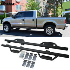 Fits 99-16 Ford F-250 SD Crew Cab Hoop Side Step Bar Running Boards Nerf Bar