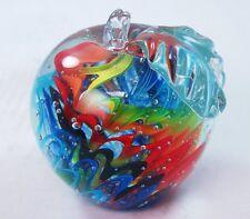M Design Art Rainbow Wavy Spiral Apple Paperweight PW-817