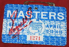 FUZZY ZOELLER Signed 1979 MASTERS Badge - Low #