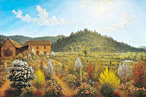 Mills Plains Van Diemens Land by John Glover A2 Art Print