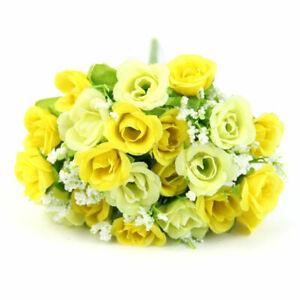 21 Heads Silk Peony Artificial Flowers Rose Wedding Bouquet Home Party Decor  CA
