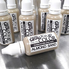 NEW 1 OZ. ALMOND SAND Liquid Color Dye Fishing Lure Making bait plastisol