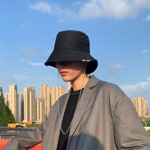 Chic designed decorative brim men's women's removable chain bucket hat sun hat