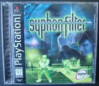 SYPHON FILTER PS1 SONY PLAYSTATION WORKING BLACK LABEL
