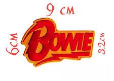 Quality Iron/Sew on David Bowie biker concert logo lightning bolt applique patch