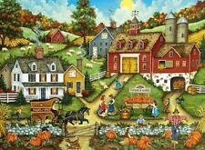 Jigsaw puzzle Landscape Village Life Picking the Perfect Pumpkin 500 piece NEW