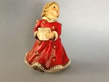 "Goebel Christmas Angel Red Porcelain Candle Holder 6"" HX328 1966"