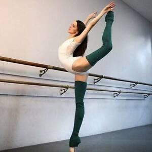 Women Cover Leg Warmers Knitted Ballet Yoga Dance Knee Long Legging Socks CH