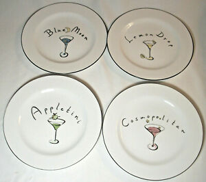 Pottery Barn MARTINI: 4 Salad Plates: EXC: NR