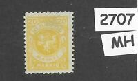 MH stamp Scott N19 / 1923 Memel 20.00 Mark / Lithuania / Prussia / Germany