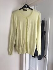 Marks and Spencer Size 20 Yellow Long Sleeve Button Front Cardigan (B1)