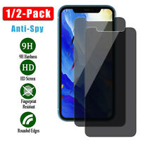 1/2X For iPhone 11 Pro Max Anti-Spy Privacy Tempered Glass Screen Protector Film