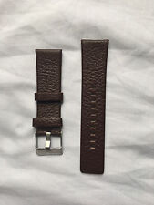 DIESEL GENUINE LEATHER WATCH STRAP WITH BUCKLE IN BROWN 24mm