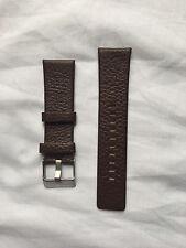 DIESEL genuino cuero reloj correa con hebilla en Marrón 26mm