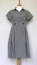 MARGARET HOWELL cotton dress check buttons rare Size UK12 US8