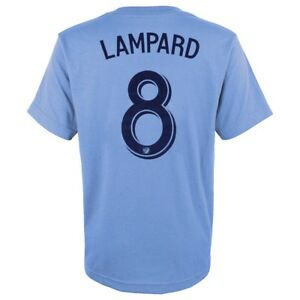 Frank Lampard MLS Adidas New York City FC Light Blue Jersey T-Shirt Youth (S-XL)