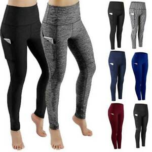 Women's Yoga Leggings Pocket Fitness Sports Gym Exercise Running Stretch Pants