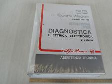MANUALE OFFICINA ORIGINALE ALFA ROMEO 33 SPORT W. DIAGNOSI ELETTRONICA PARTE 2