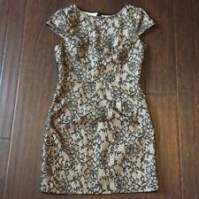 Windsor Black & Cream Lace Dress Size M