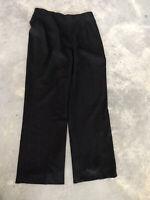 Banana Republic Stretch Black Wool Womens Dress Trouser Pants Size 10
