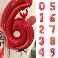 "32"" Big Number Foil Balloon Red Air Balloon Age Birthday Party Wedding DIY Decor"