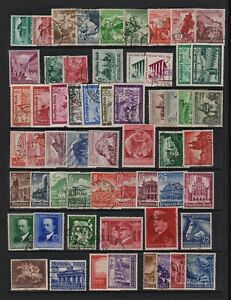 Germany - 59 Semi-postal stamps - 3rd. Reich era