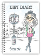 PERSONALISED FOOD DIARY / A5 DIET DIARY SLIMMING PLANNER/ WEIGHT LOSS LOG